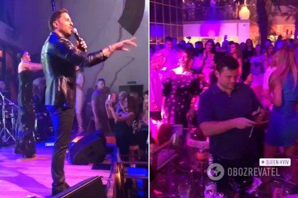 Богдан провел вечер в ночном клубе на концерте Пирожкова