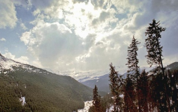 В Карпатах выпал снег