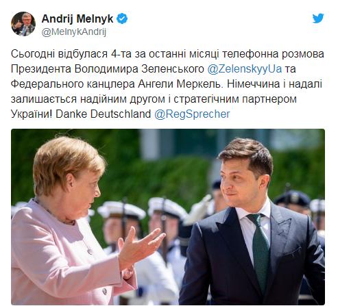 Зеленский заручился поддержкой Меркель