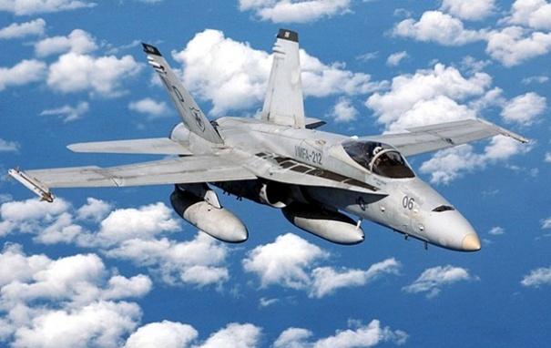 В США разбился истребитель F/A-18
