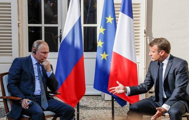 Макрон заявил, что верит в Россию в составе Европы