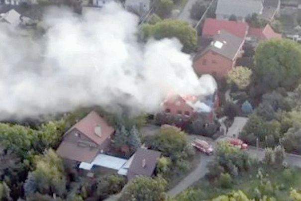 Появилось видео уничтожения дома одного из главарей «ДНР»