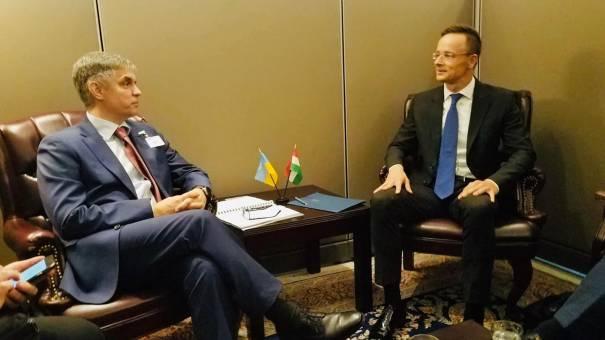 Пристайко провел переговоры с главой МИД Венгрии Сийярто