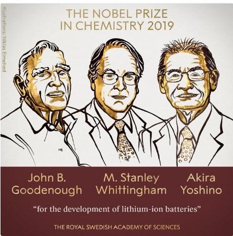 Нобелевскую премию по химии присудили за изобретение литий-ионных батарей