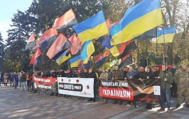 В разных городах Украины проходят митинги против «капитуляции»