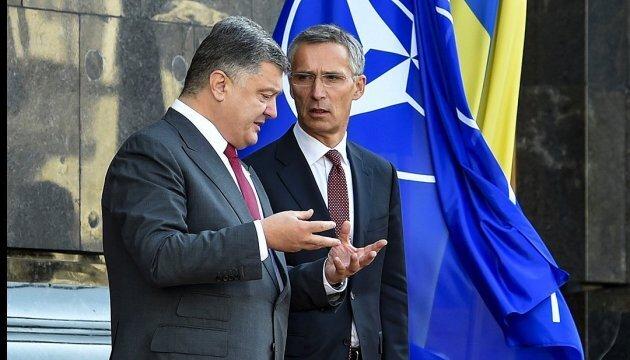 «Багато років працювали пліч-о-пліч», – Столтенберг відзначив реформи Порошенка для членства України в НАТО