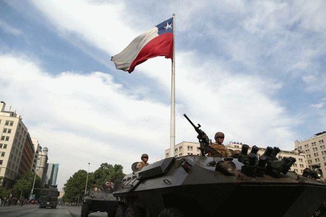 В столице Чили миллион человек вышли на акцию протеста