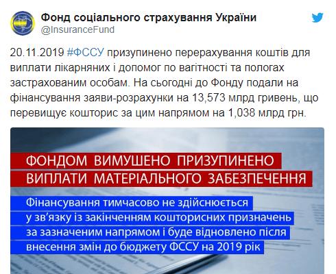 Кабмин заявил о пропаже денег из Фонда соцстрахования