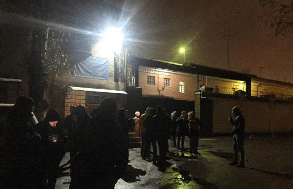 Под Лукьяновском СИЗО собрались противники обмена бывших беркутовцев