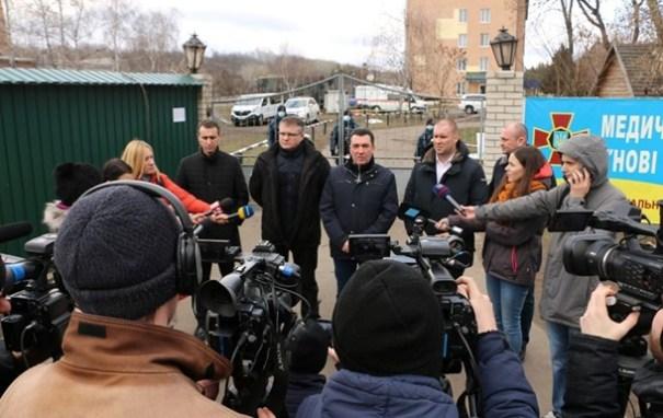 Секретарь СНБО Данилов в Новых Санжарах рассказал о зачинщиках беспорядков