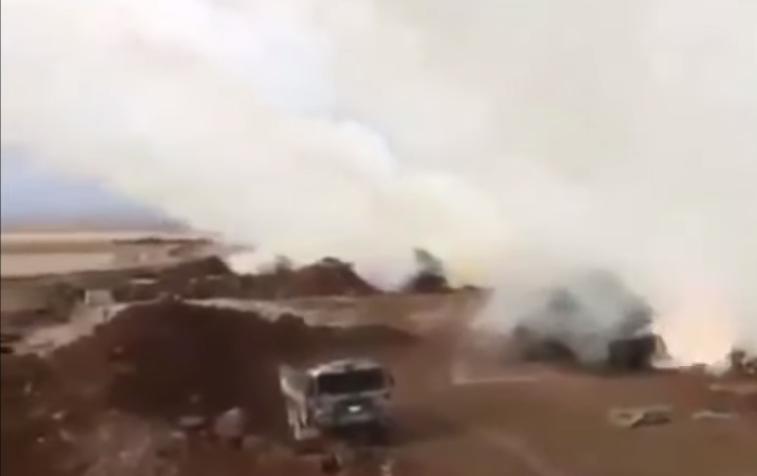 Турция выбила русских из района Нейроб в Сирии: видео удара