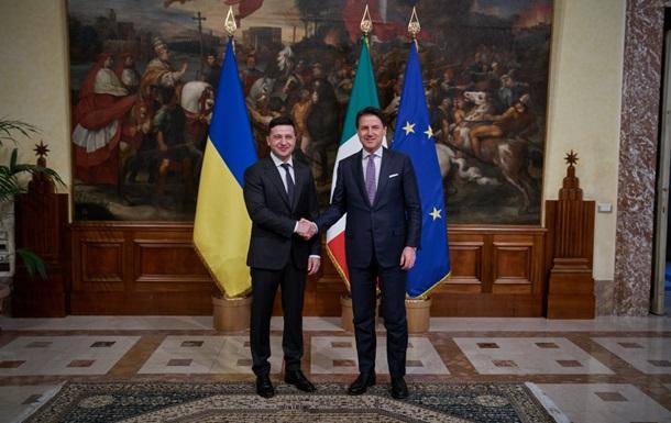 Зеленский попросил премьера Италии Конте разобраться с офисами «ДНР»