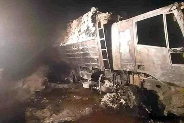 Турция уничтожила семь военных грузовиков с российскими наемниками в Ливии