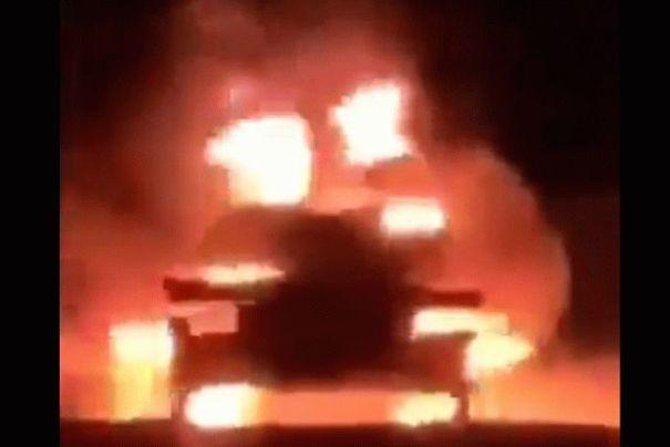 В Ливии сожгли российский танк: видео