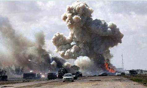 После мощной артподготовки ЧВК Вагнера пошла на штурм Триполи
