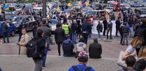 В Киеве возле Кабмина массовый протест предпринимателей