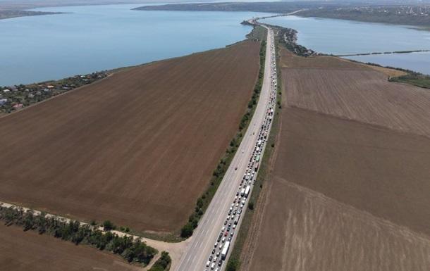 На въезде в Одесскую область образовалась пробка длинной 30 км
