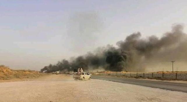 В Ливии сожгли военный караван ЧВК Вагнера