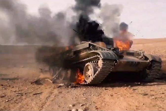 В Сирии уничтожили ангар с российскими танками Т-72 и Т-90