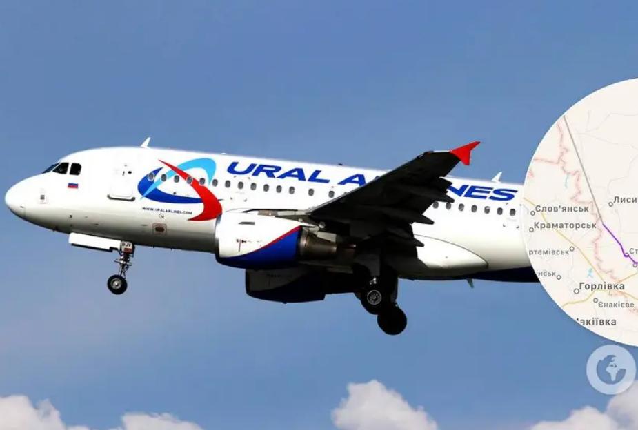 Над Донбассом пролетел российский самолет