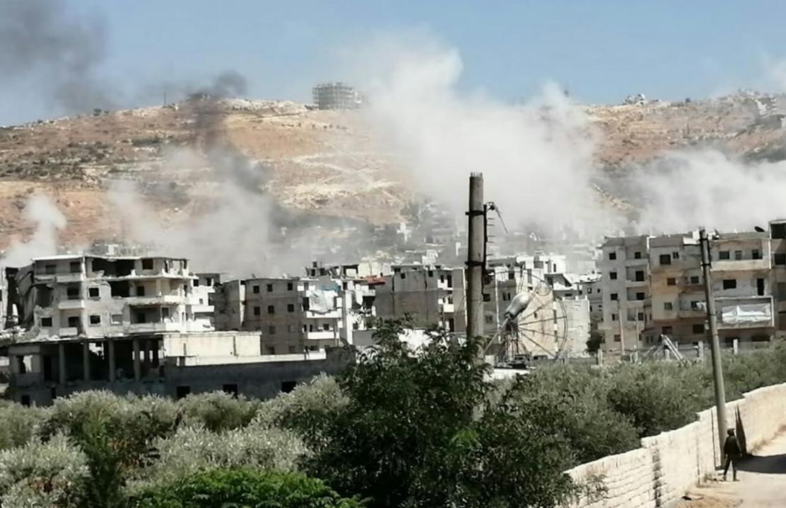 Российские военные атаковали мирный город в Сирии