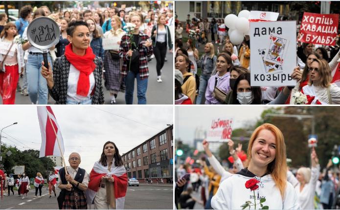 В Минске бойцы ОМОН попали в окружение на женском марше