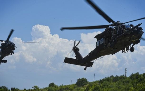 В США упал военный вертолет, двое погибших