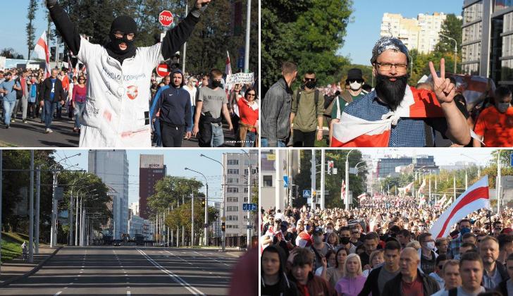 В Минске проходит очень массовый марш протеста