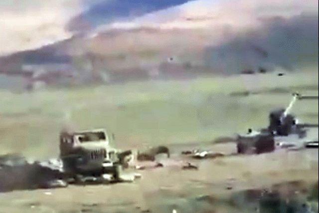 Азербайджан уничтожил армянские танки, видео