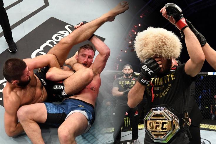 Хабиб Нурмагомедов победил американца Гэтжи в чемпионском бою
