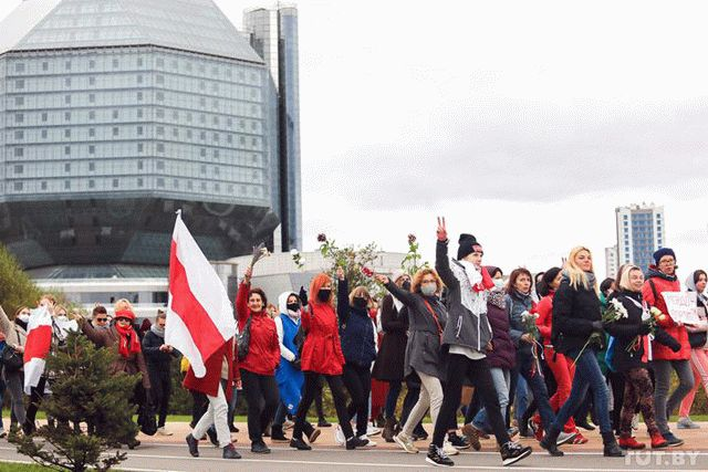 В Минске одновременно проходят два марша против Лукашенко
