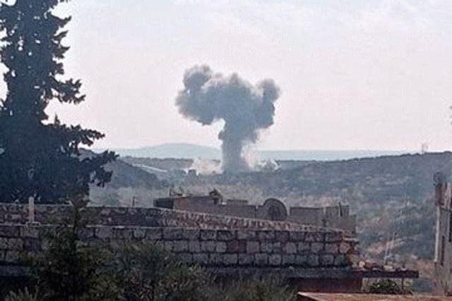 Российские штурмовики бомбят в Сирии турецкий блокпост