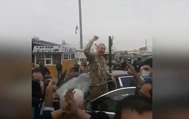 Появилось видео, как Алиева встретили в Нагорном Карабахе