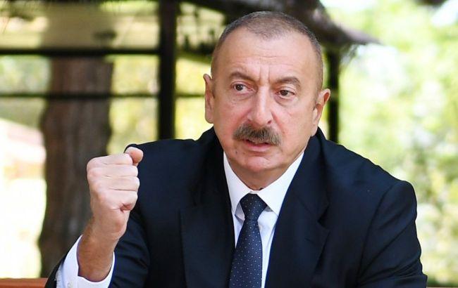 Алиев заявил, что Азербайджан заставил Армению уйти с оккупированной территории