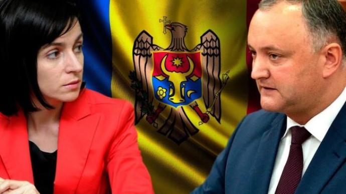 В Молдове во второй тур президентских выборов вышли Додон и Санду