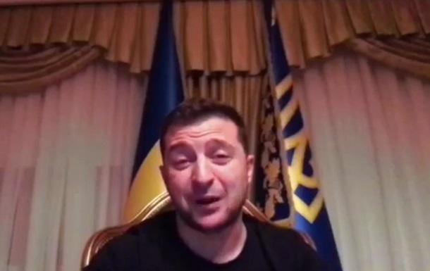 Зеленский сделал видеообращение из Феофании