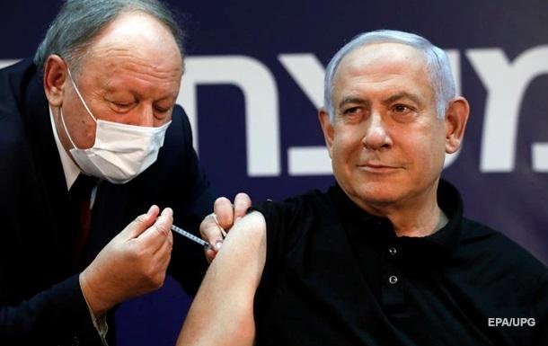Нетаньяху первым в Израиле привился от COVID-19, видео