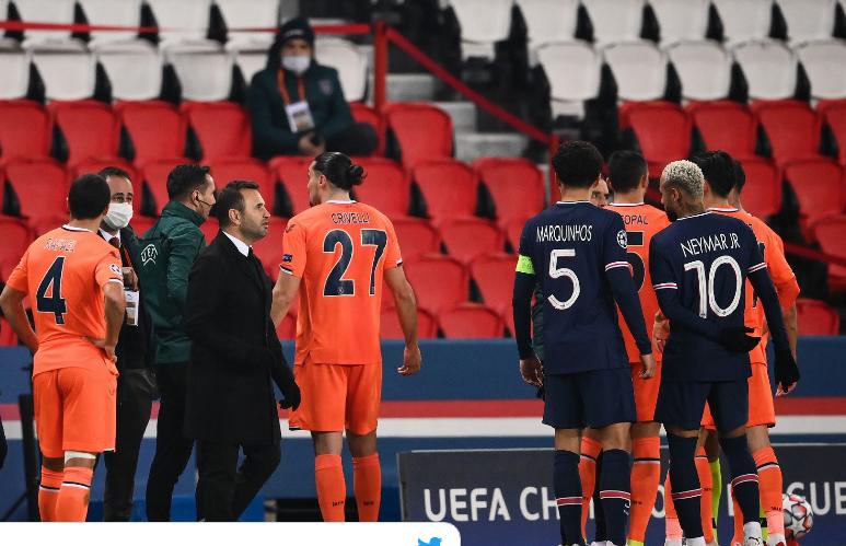 Матч ПСЖ – «Истанбул» сорван. Турки обвинили арбитра матча в расизме