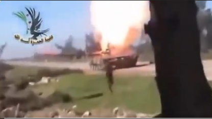 В Сирии повстанцы подбили российский танк