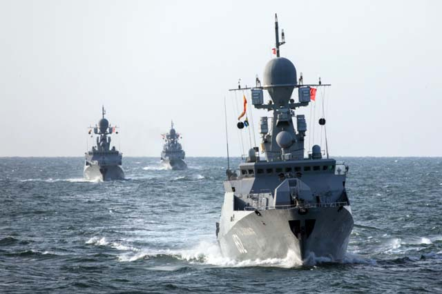 Каспийская флотилия подошла к Азовскому морю