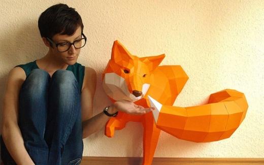 3D фигуры Паперкрафт – подарок по поводу и без
