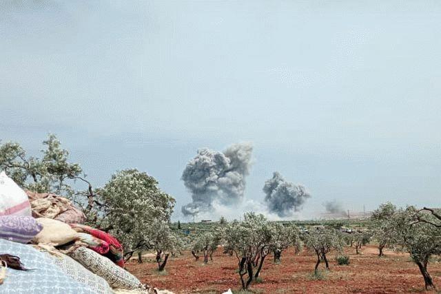 Россия применила в Сирии военную авиацию и получила ответный удар