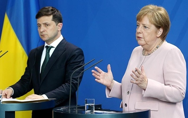 Меркель провела телефонные переговоры с Зеленским и Путиным