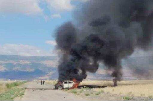 В Сирии российские наемники уничтожили автомобиль с людьми