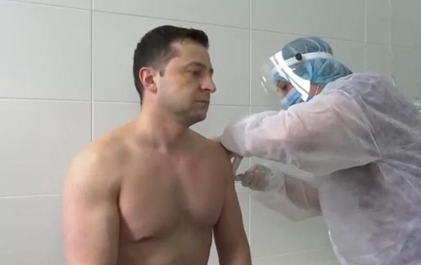 Зеленский получил вторую дозу COVID-вакцины