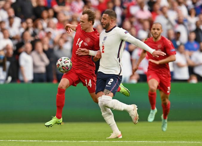 Дания забила первый гол сборной Англии на Евро-2020