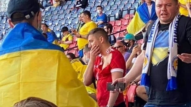 Россиянин рассказал, за что его ударили на матче Украины в Глазго