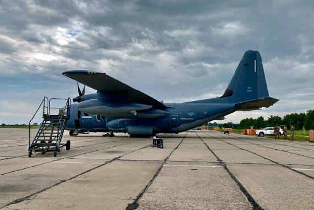 В Винницу прилетели военные самолеты США